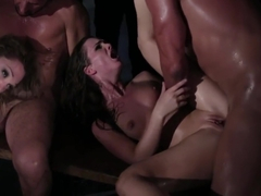 Lily Labeau & Lily Carter Fucked in a Gangbang & Facialized!