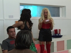 Crazy pornstars Cindy Behr, Anaya Leon and Victoria Rush in hottest blonde, brazilian xxx clip
