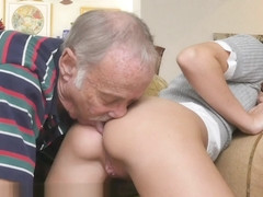 BLUE PILL MEN - Young Kharlie Stone Takes Geriatric Cock In Her Orifaces