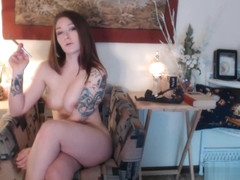 One smoking hot buttplug play