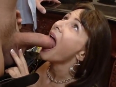 Hot buxomy experienced female Alexandra Silk receiving a cumshot