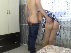 Mom gave her stepson to fuck her ass in anal. Mother and stepson anal sex