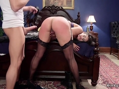 Stunning Milf anal banged in threesome