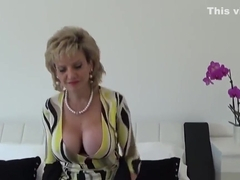 Unfaithful british milf lady sonia shows off her huge breasts