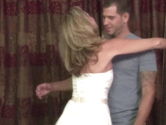 Stepmother Jodi West Fucks Son In Her Wedding Dress - JodiWest
