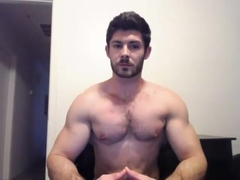 Tight bushy hunky doing a cam show