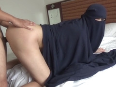Muslim stepSISTER in BURQA gets a Creampie - Handjob and Doggystyle