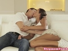 Stepmom Angel Snow sharing hard cock