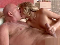 Teen Emily Kae cunt hammered by old dick