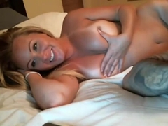 Busty tanned blonde gets fucked by horny guy
