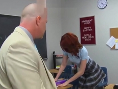 Bad Girl Alana Rains Spanked & Fucked By School Professor