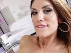 August Ames gets jizz on her leggings