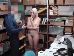 Blonde Shoplifter Got A Mouthful Of The Lp Officers Cock