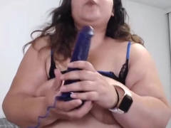 Busty Latin plumper Karla Lane with hairy bush vagina