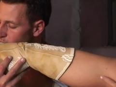 Nasty Kathia Nobili banged after footjob