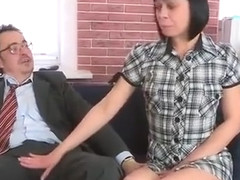 Ideal Bookworm Gets Tempted And Banged By Her Elderly School
