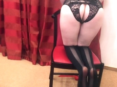 Casting Ginger Teen in Sexy Lingerie | Young Girl posing for private shoot