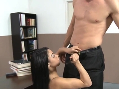 Charming girl Summer Bailey trying to make her horny teacher happy!