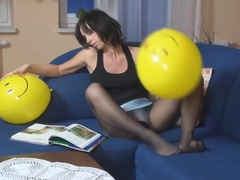 Pantyhose Balloon Play