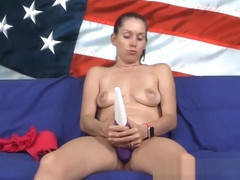 Celebrating the red white blue with patriotic masturbation