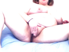 BBW French football team supporter strip tease - Lola0512