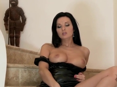 Vanessa Jordin Stripping on the Staircase