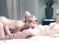 Kenna James and Cory Chase licks thier pussies in 69