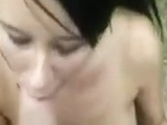 Gorgeous busty babe getting intensely fucked in public so