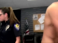 CFNM police officers suck dick