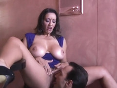 Persia Monir Busty cougar gets fucked after few drinks