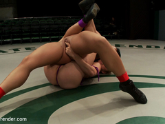 Rookie Has Her Ass Kicked, Pussy Fingered On The Mat, Humiliating Defeat. Fucked Like A Common Who.