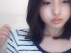 Korean with tight pussy is touched on webcam