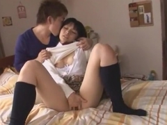 Incredible Japanese slut Ryoko Hirosaki in Crazy Masturbation, Couple JAV scene