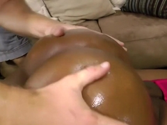 Black beauty with a perfect ass Chanel Bryant fucks a big white dick