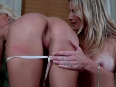 Lez babes Randi Tango and Brianna Ray playing