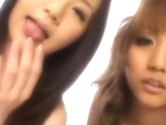 Fabulous Japanese model Rio Sakura in Exotic Threesomes, Blowjob/Fera JAV scene