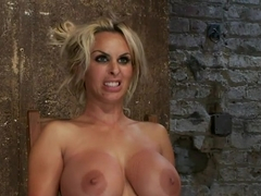 Hot MILF, is throat fucked, strap on fucked and made to cum over and over!OH THE HUGE-MAMMARIES!