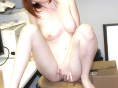 Exhibitionist Zoey Nixon Masturbates Naked In The Office - DaGFs