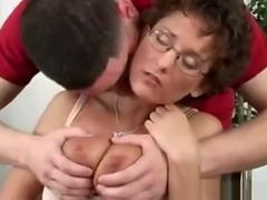 Wild Older Darling Rides On Dude's Pecker Vigorously