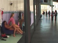 stepsister anal at public shopping mall