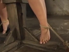 Delightful Hollie Stevens featuring real BDSM action