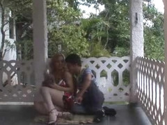 Adryella fucks guy on the porch