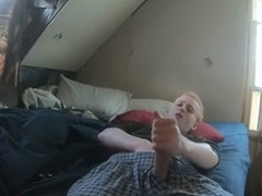 RARE HOT BLONDE COLLEGE TEEN JERKING + moaning