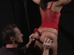Submissives Roundass Gets Whipped By Maledom