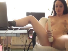 Horny British amateur Alessa Savage masturbating