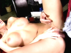 Mature brunette with big, firm tits, Dylan Ryder likes to feel a hard cock inside her slit