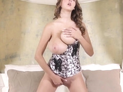 Busty Buffy - Rubs Abnormally Big Boobies and Pink Slit
