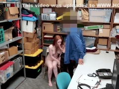 Shoplifter Ella Hughes rides dudes cock for her freedom