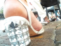 candid heels sandals crush camera