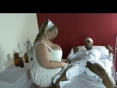 Chunky Golden-Haired Fetish-Bitch takes BBC in Hospital